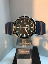 CITIZEN Men's ECO DRIVE PROMASTER BLUE RUBBER STRAP Diver WATCH WR200m
