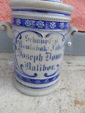 17798 Kautabaktopf Joseph Doms Ratibor kleiner Abplatzer Steingut 26cm tobacco