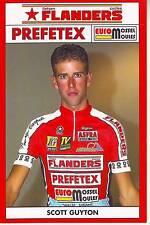 CYCLISME carte cycliste SCOTT GUYTON  équipe fieften FLANDERS PREFETEX 2001