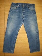 6381 Levi's destructed fade 501 buttonfly jeans 38x31 levis