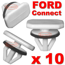 10 FORD TRANSIT CONNECT TOURNEO WHEEL ARCH TRIM CLIPS PLASTIC FRONT WING REAR