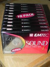 N. 10 Cassette audio EMTEC 60 FERRIC TAPE I musicassette vergini 10 PZ