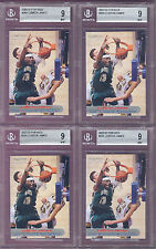 Lot (4) LeBron James Cavs 2003 Sports Illustrated for Kids Rookie Card rC BGS 9