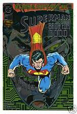 DC Comics SUPERMAN #82 Foil Cover Back for Good from Oct. 1993 in NM condition