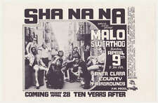 SHA NA NA flyer handbill  (April 9th, 1971)