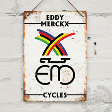EDDY MERCKX Vintage Metal Wall Sign Plaque Retro Garage Cycles bike reynolds