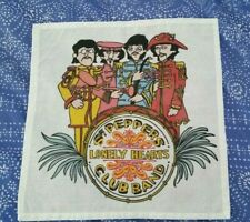 """THE BEATLES """"SGT PEPPERS"""" SCARF / NAPKIN COTTON 42CM X 42CM"""