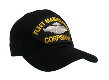 Us Navy Corpsman Hat Fleet Marine Force Fmf War Insignia Back Ball Cap