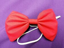 Red Bow Tie On Elastic Clown Fancy Dress Accessories