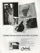 ▬► PUBLICITE ADVERTISING PAFUM PERFUME Cabriole Alizabeth ARDEN 1978