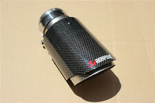 AKRAPOVIC 63mm-89mm Glossy Carbon Exhaust Pipe Universal Muffler End Tip For Car