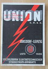 Union Katalog 1936 Pumpenanlagen Motorschutz Schalter Motorschaltkästen Zubehör