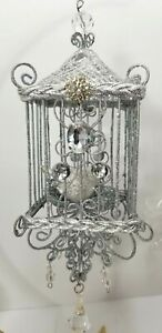 Miniature Hanging Birdcage  Chandelier 7 inches Tall