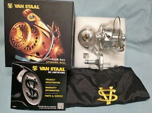 Van Staal VSB200S Spinning Reel Polished Silver Brand New in Box FREE SHIP