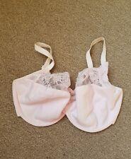 BNWOT M & S Adored Pink Ice Pale Pink Lace Trim Bra Size 34E