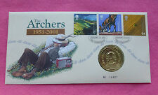 2001 THE ARCHER'S    50TH ANNIVERSARY MEDAL FIRST DAY COVER