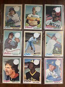 1978 Topps AUTOGRAPHED LOT (18), Donnie Moore, Willie Hernandez, Scott, Monge++
