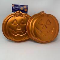 Wilton Jack O Lantern Pumpkin Halloween Cake Pan Mold Iridescent BRAND NEW