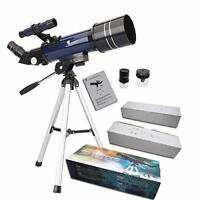 Ultra-Clear Astronomical Refractor Tabletop Telescope with Tripod Finder +MORE