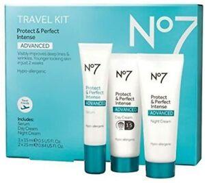 No7 Protect & Perfect ADVANCED Kit, No7  Serum,Day & Night Cream ladies gift set