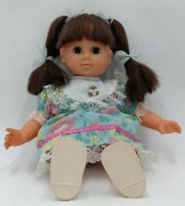 Vintage Doll Talking Toddler Girl Sleep Eyes Brown Hair Eyes Pigtails Lovee Toys