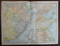 Eastern China Taiwan Shangtung Beijing Peking Hong Kong 1920 large detailed map