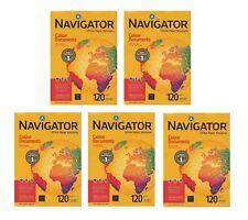 5 x Navigator Kopierpapier A4 120gr, weiß, 250 Blatt für Kopierer/Laser/Inkjet