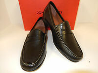 Donald J Pliner Naper2-54 Black Leather Penny Loafers  w/ Manmade Sole-New