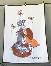 "Vintage Biederlack Disney ""LADY AND THE TRAMP"" Blanket 71X58 *FREE SHIPPING*"