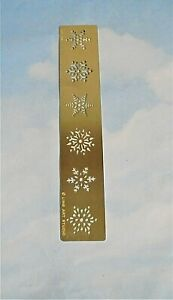 Rayher embossing stencil Christmas snowflakes decorations USED