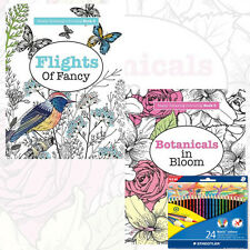 Elizabeth James Really Relaxing Colouring 2 Books Collection Set With Pencil New