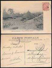 FRENCH GUINEA 1906 PPC SOUSSOUS VILLAGE NIENEYA...LOUANGO a MARSEILLE SHIP TPO