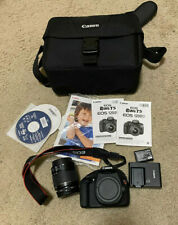 Canon EOS Rebel T5 Kit with 18mm-55mm lens, bag, manuals, card, charger, battery