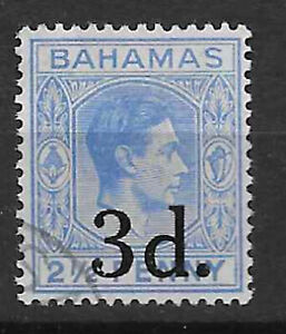 Bahamas 1949 3d. surcharge fine used