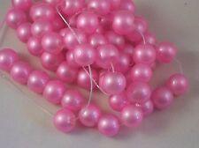 Glasperlen 10 Stück 12mm rosa