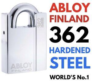 Abloy 362 Finland Padlock New PL362 Worlds No1 Chrome Finish R.R.P. £250 Bargain