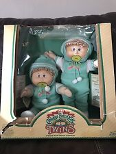 Vintage Cabbage Patch Twins In Box With Pacifiers 1985