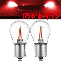 2Pcs Car 1156 BA15S P21W LED COB Red Turn Signal Light Reverse Backup Lamp Bulb