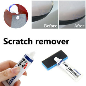 Car Scratch Repair Remover Car Paint Strong Decontamination Wax Abrasives+Sponge