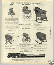 1937 PAPER AD Ideal Tickletoes Doll Dolls Wicker WQillow Buggy Buggies