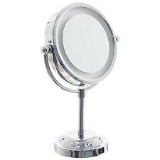 Miroir lumineux double face   Grossissant et Normal   Rotation 360°    Ø 15cm