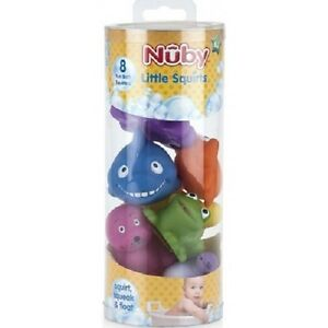 NUBY 6194 Little Squirters Bath Time Toys Keep Baby Entertained in the Bath 6m+
