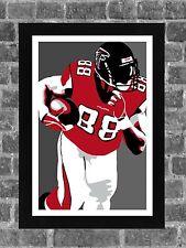Atlanta Falcons Tony Gonzalez Portrait Sports Print Art 11x17