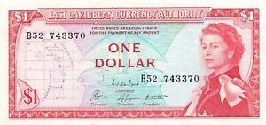 East Caribbean States 1 Dollar 1965 P-13e XF/AU