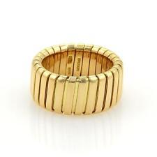 Bulgari Bvlgari Tubogas 18k Yellow Gold 10mm Wide Band Ring 6.5