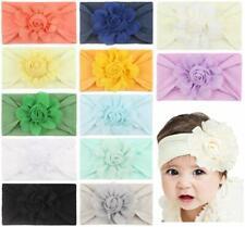 Baby Girl's Headbands Newborn Bows Soft Nylon Head Wraps for 12 Pack-qs2