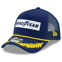 NASCAR New Era Goodyear 9FORTY A-Frame Trucker Mesh Adjustable Snapback Hat -