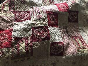 Quilt Decke -Tagesdecke, Clayre & Eef, 180x260 cm