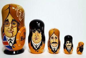 Russian Nesting Dolls Beatles Beautiful Set 5 pcs Nice Gift!