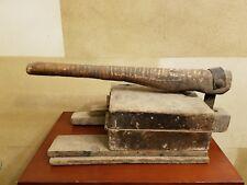 Primative Antique Rustic Wood Tortilla Press Maker Very Old Decorator Piece